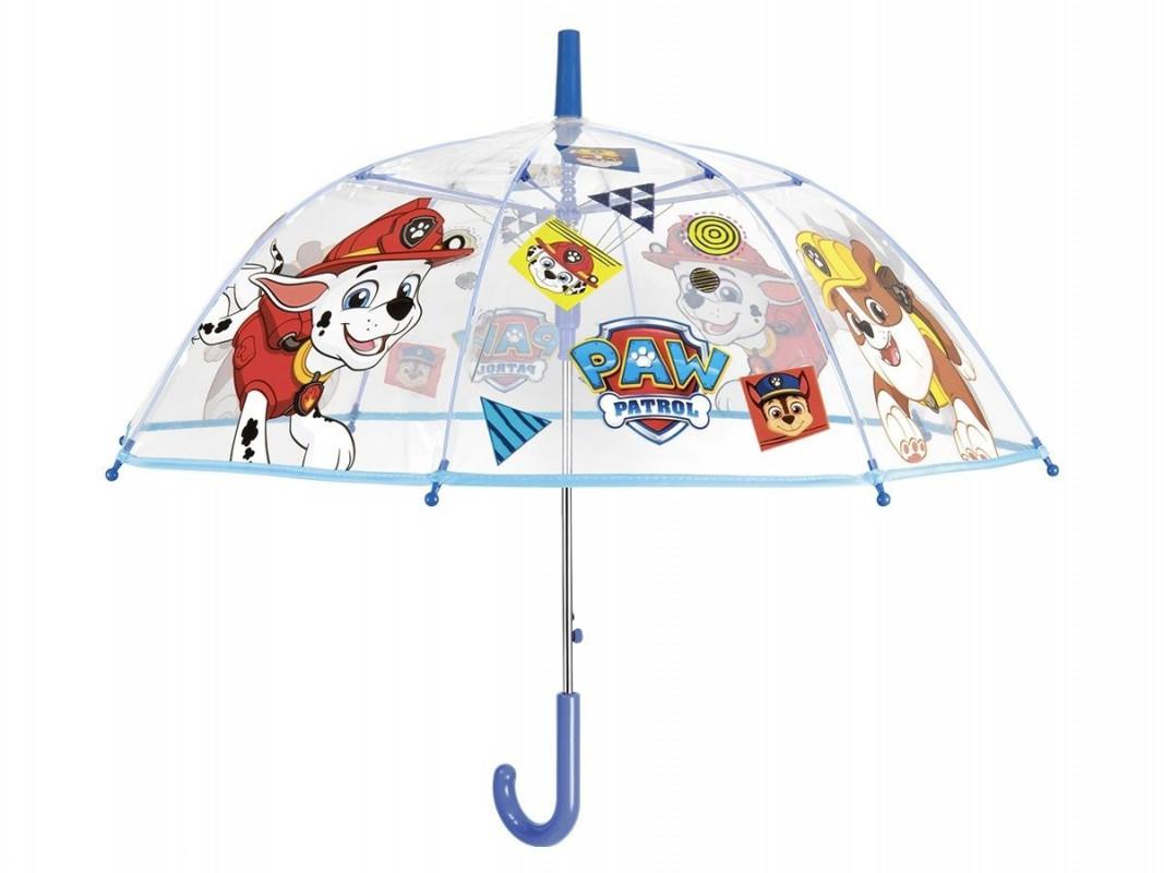Průhledný automatický deštník Paw Patrol / Tlapková Patrola / 45 cm