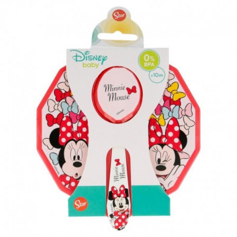 Plastová miska s víčkem a lžičkou Minnie Mouse / 12 x 4,5 cm
