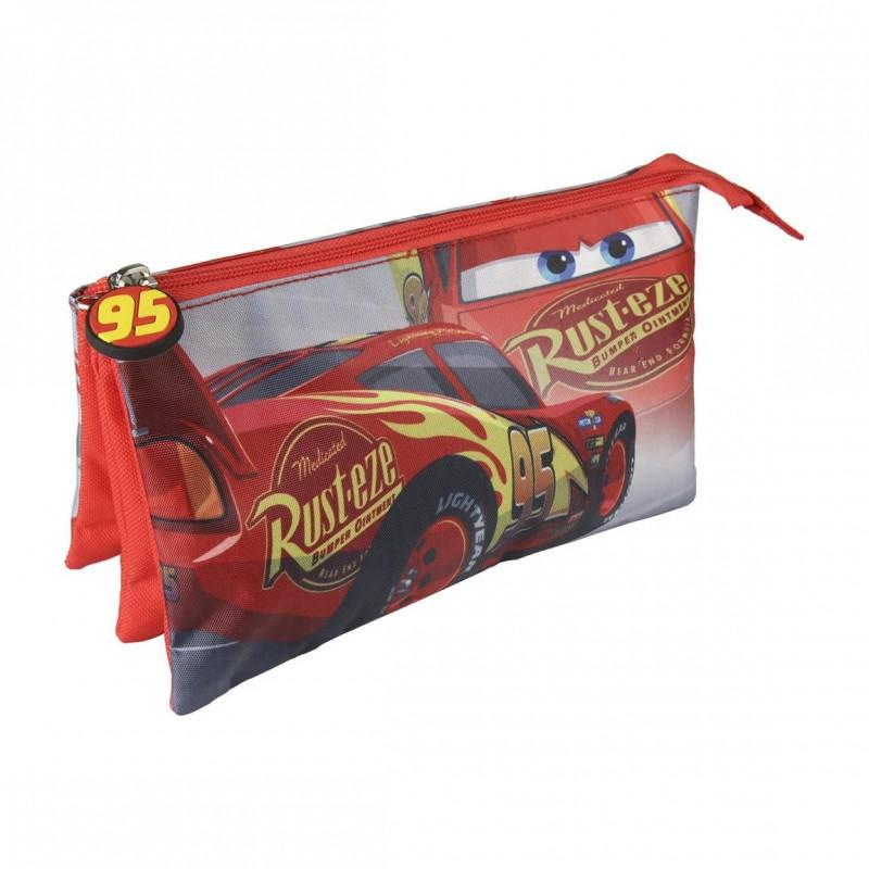 Tříkomorový penál / pouzdro Cars / Auta / 22 x 11,5 cm