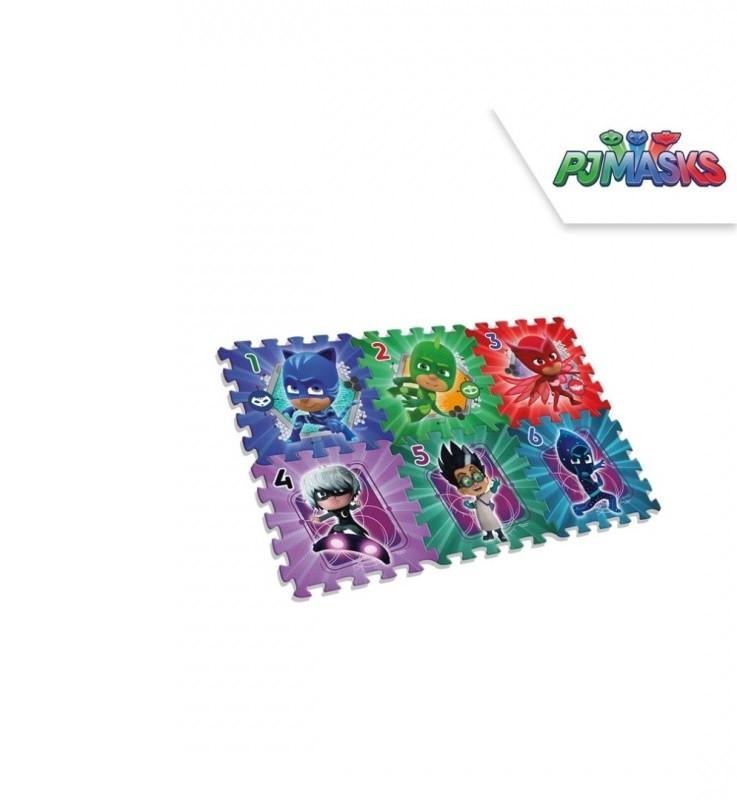 Dětské pěnové puzzle PJ Masks / 6 kusů / 90 x 60 x 8
