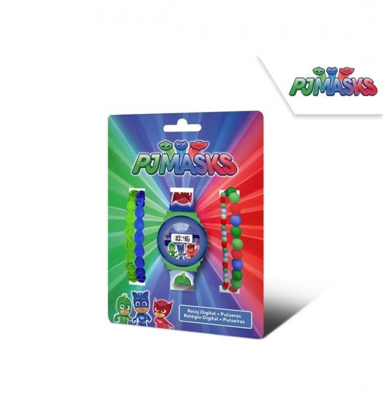 Digitální hodinky + náramky PJ Masks / 12,7 x 17 x 7 cm