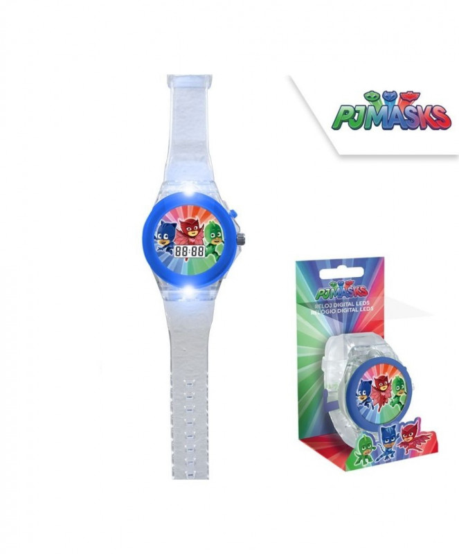 Digitální hodinky s LED světlem Pj Masks / 15 x 7 cm / veci z filmu