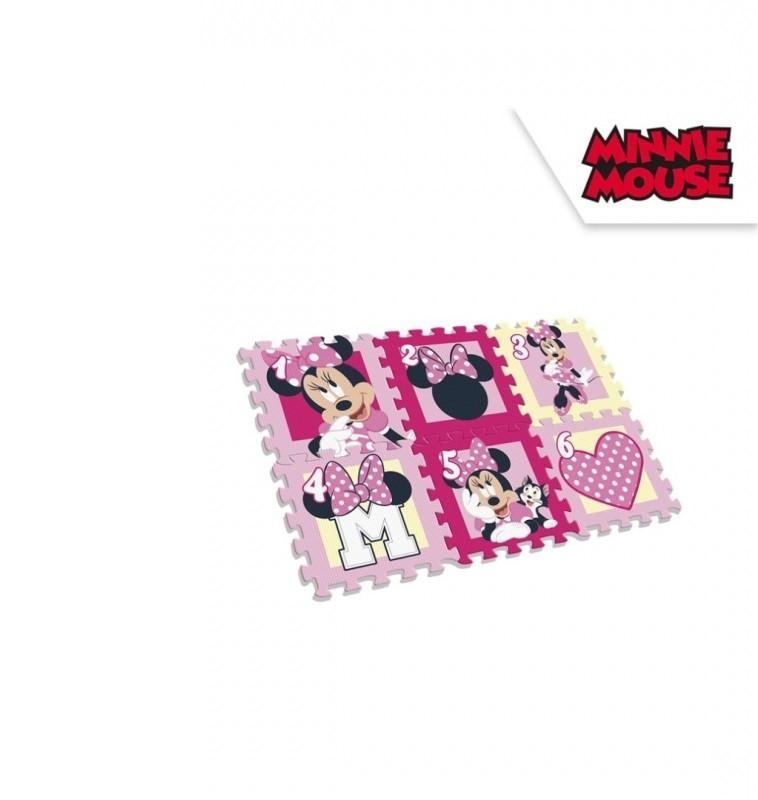 Dívčí pěnové puzzle Minnie Mouse / 6 dílů / 90 x 60 x 8 cm / veci z filmu