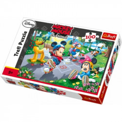 Hra puzzle Mickey Mouse / 100 dílků