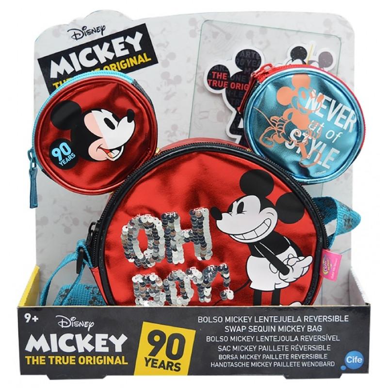 Taška na jedno rameno Mickey Mouse / 28 x 27 x 7 cm