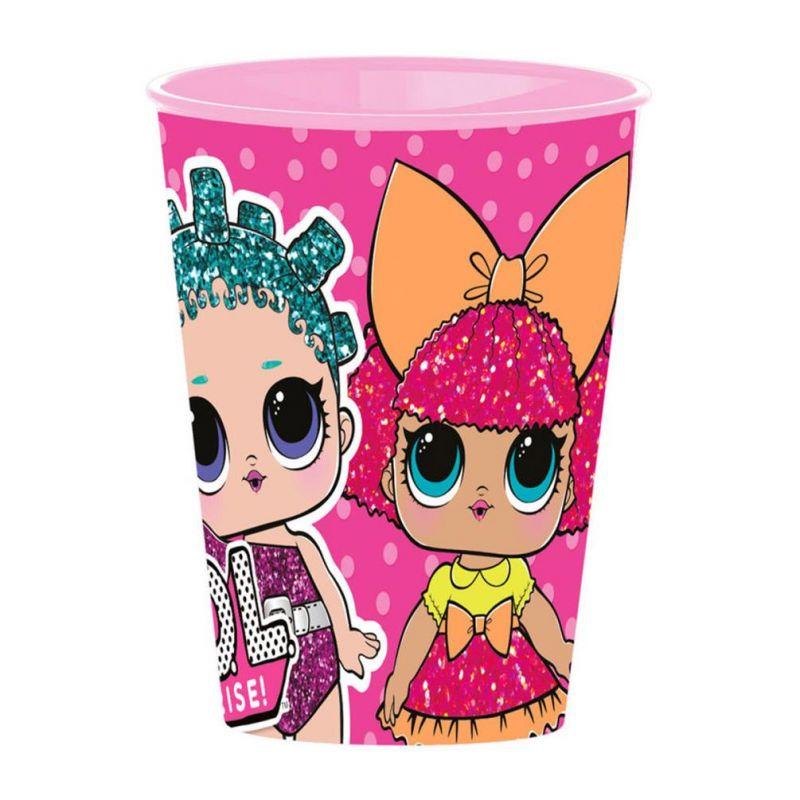 Dívčí plastový kelímek LOL Surprise růžový 260 ml