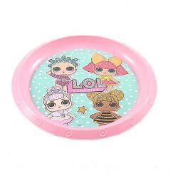 Dívčí plastový talířek LOL Surprise růžový 22 cm / vecizfilmu