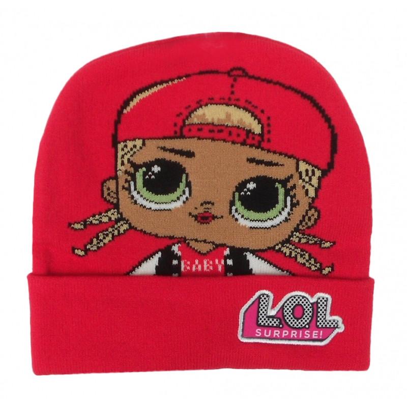 Podzimní / zimní čepice červená LOL Surprise / vel: 56 cm