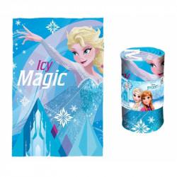 Dívčí modrá fleecová deka Frozen Elsa / Icy Magic 100 x 150 cm