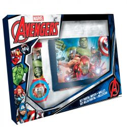 Chlapecká sada Avengers / peněženka a digitální hodinky / Hulk Kapitán Amerika Iron Man