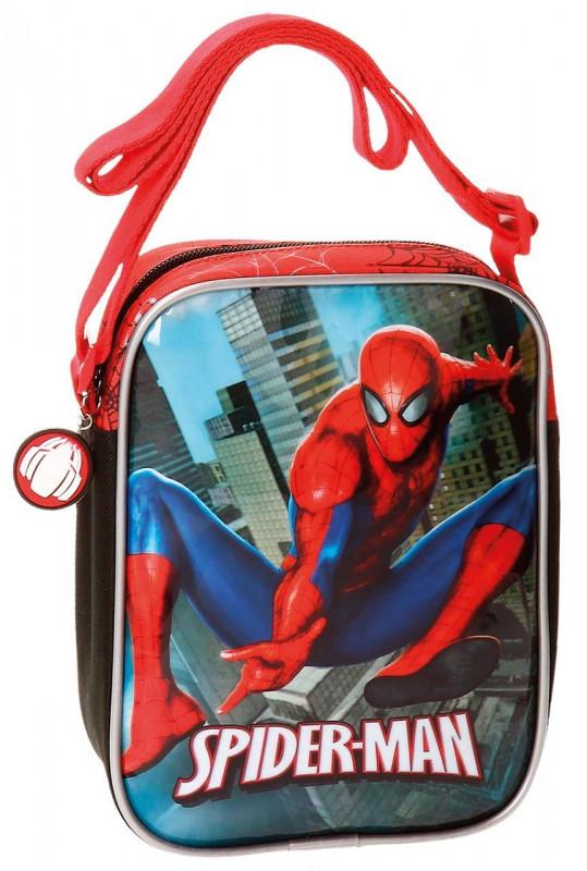 Chlapecká taštička přes rameno s pavoučím mužem Spidermanem 15 x 20 x 6 cm