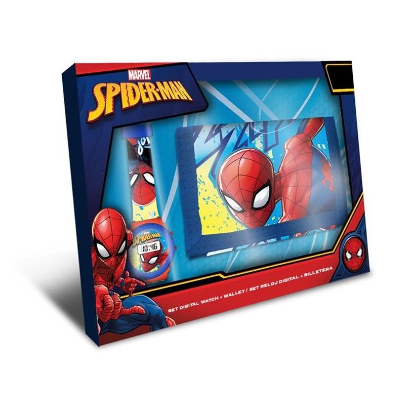 Chlapecká sada / peněženka a digitální hodinky Spiderman