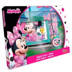 Dívčí set digitální hodinky s peněženkou Minnie Mouse / 19 x 14,5 cm / veci z filmu