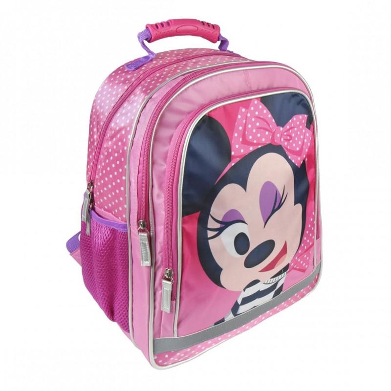 Batoh dívčí tří komorový Minnie Mouse / 38 x 29 x 17 cm