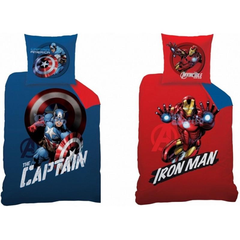 Bavlněné povlečení oboustranný potisk Avengers / 140 x 200 cm