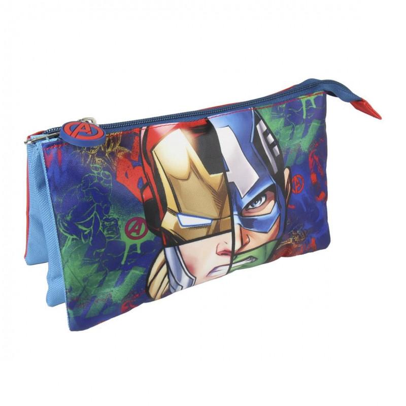 Penál / Pouzdro tříkomorové Avengers / 22 x 11,5 cm