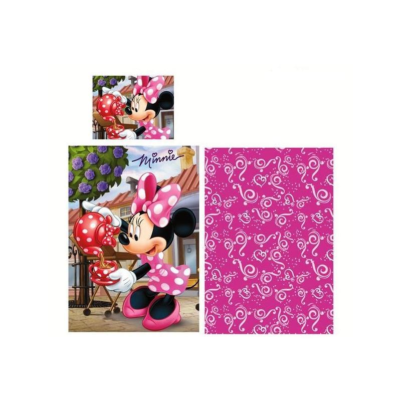 Dívčí povlečení s Myškou Minnie / Minnie Mouse / konvička 140 x 200 cm a 70 x 90 cm