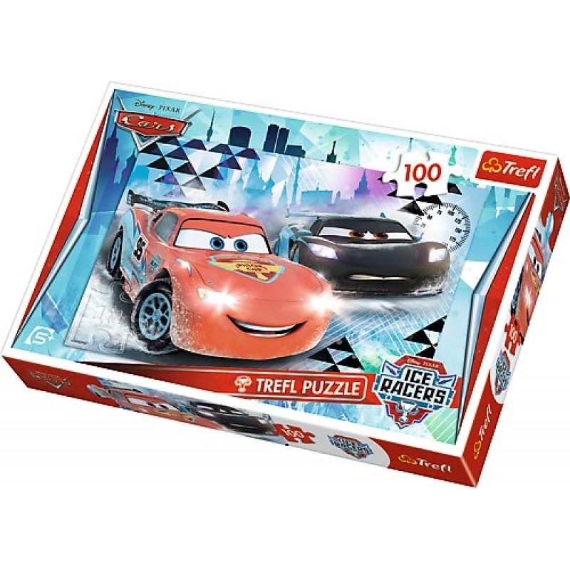 Chlapecké puzzle s Bleskem McQueenem / Cars 100 dílků