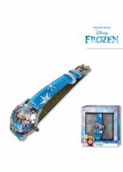 Dívčí modré analogové hodinky v krabičce Ledové Království / Frozen / Anna a Elsa / vločky / vecizfilmu