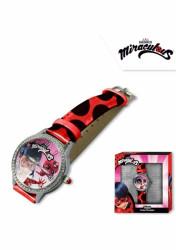 Dívčí analogové hodinky s kamínky v krabičce Zázračná Beruška / Ladybug Miraculous