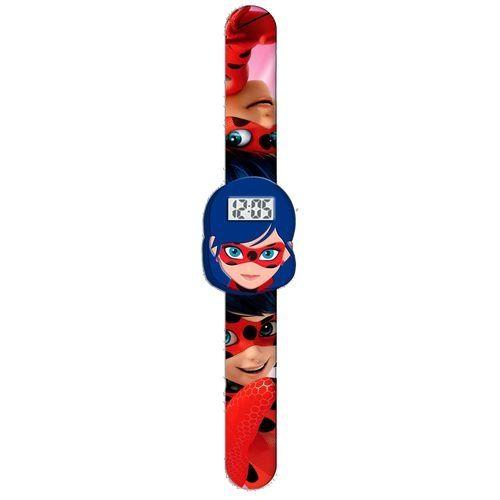 Dívčí 3D digitální hodinky Zázračná Beruška / Miraculous Ladybug se silikonovým páskem bez zapínání
