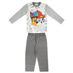 Chlapecké šedé pyžamo s dlouhým rukávem Chase a Marshall / Tlapková Patrola / Paw Patrol