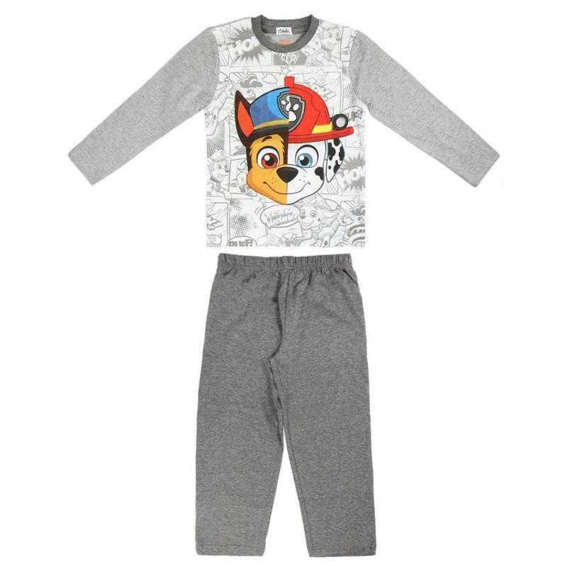 Chlapecké šedé pyžamo s dlouhým rukávem Chase a Marshall / Tlapková Patrola / Paw Patrol / vecizfilmu
