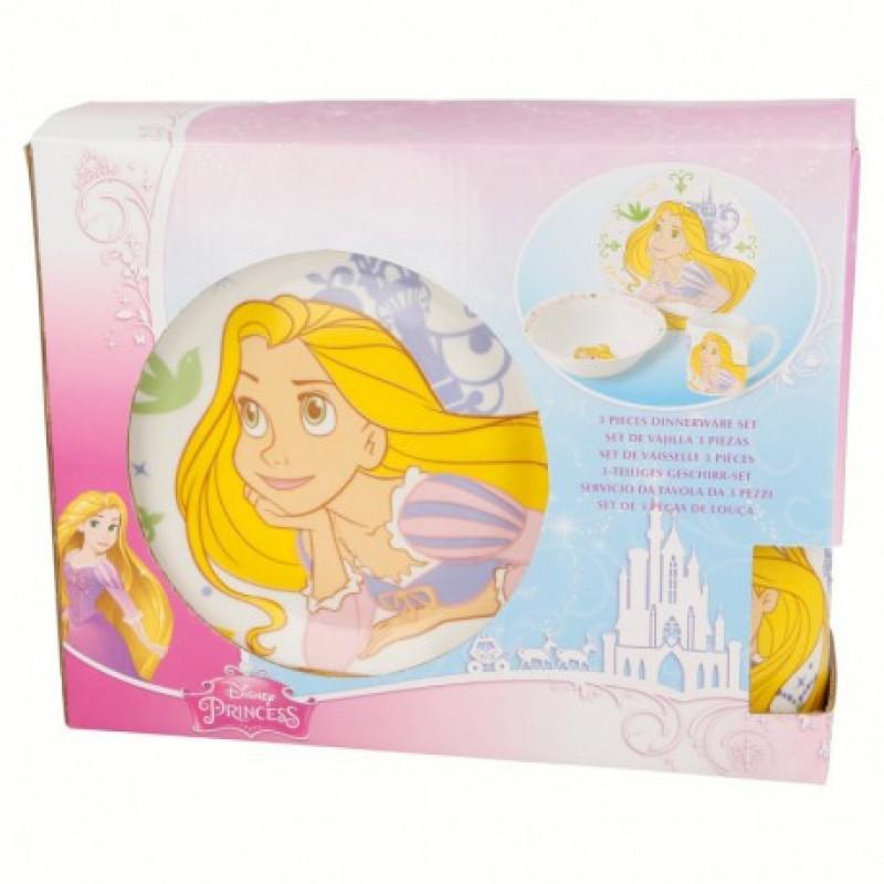 Keramická jídelní sada Princezny / Princess / 3 dílná