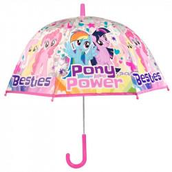 Průhledný manuální deštník My Little Pony / 48 cm