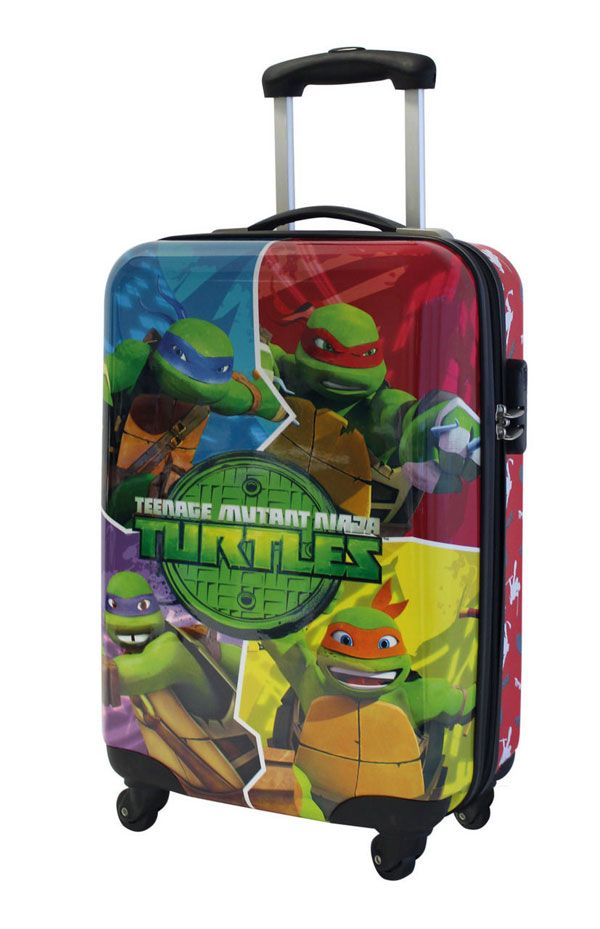 Cestovní kufr ABS Želvy Ninja portrét 55 cm