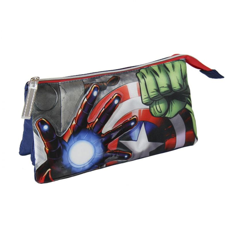 Penál / pouzdro tříkomorové Avengers / 23 x 15 x 8 cm