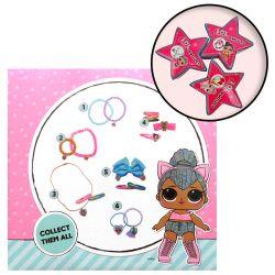 Dívčí bižuterie nebo vlasové doplňky LOL v malé krabičce ve tvaru hvězdy