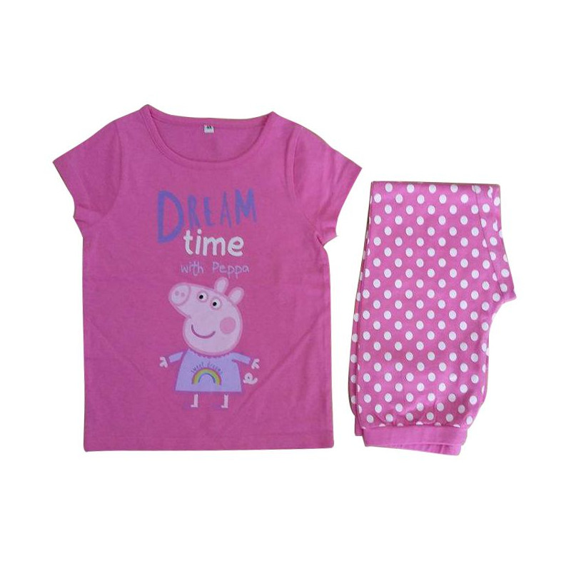 Dívčí bavlněné pyžamo s krátkým rukávem Prasátko Peppa / Peppa Pig Dream Time 3 - 5 let