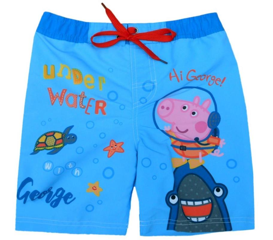 Chlapecké letní plavecké šortky Prasátko Peppa / Peppa Pig / George světle modré