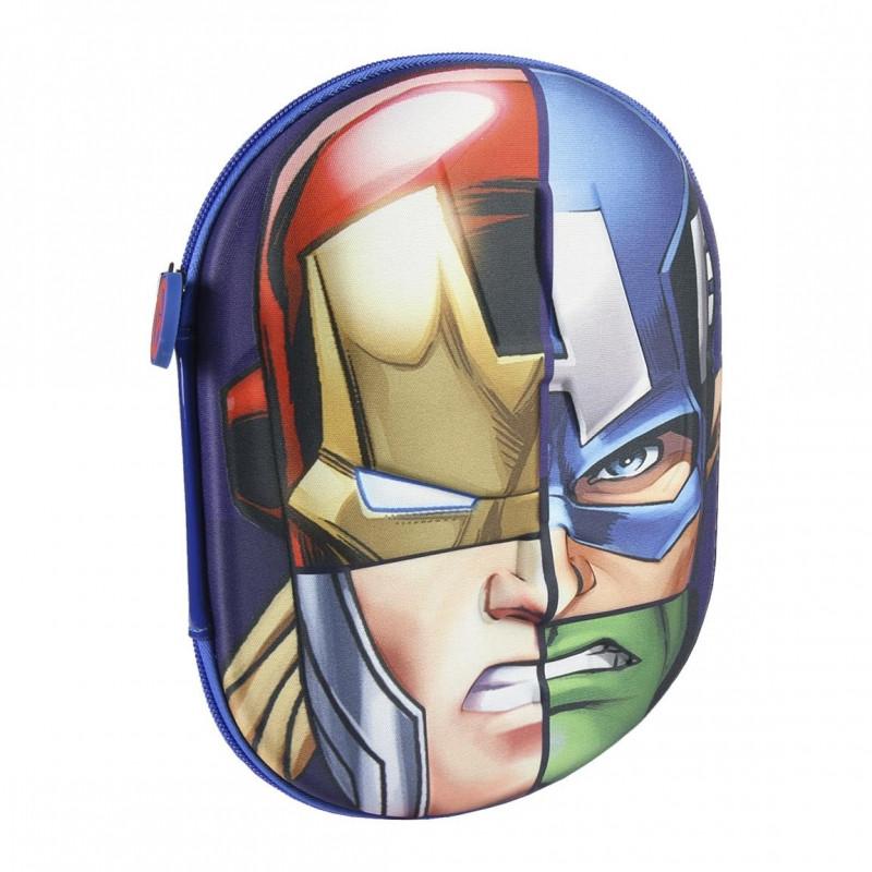 Chlapecké 3D pouzdro / penál s vybavením s hrdiny Avengers / Iron Man Kapitán Amerika Thor Hulk