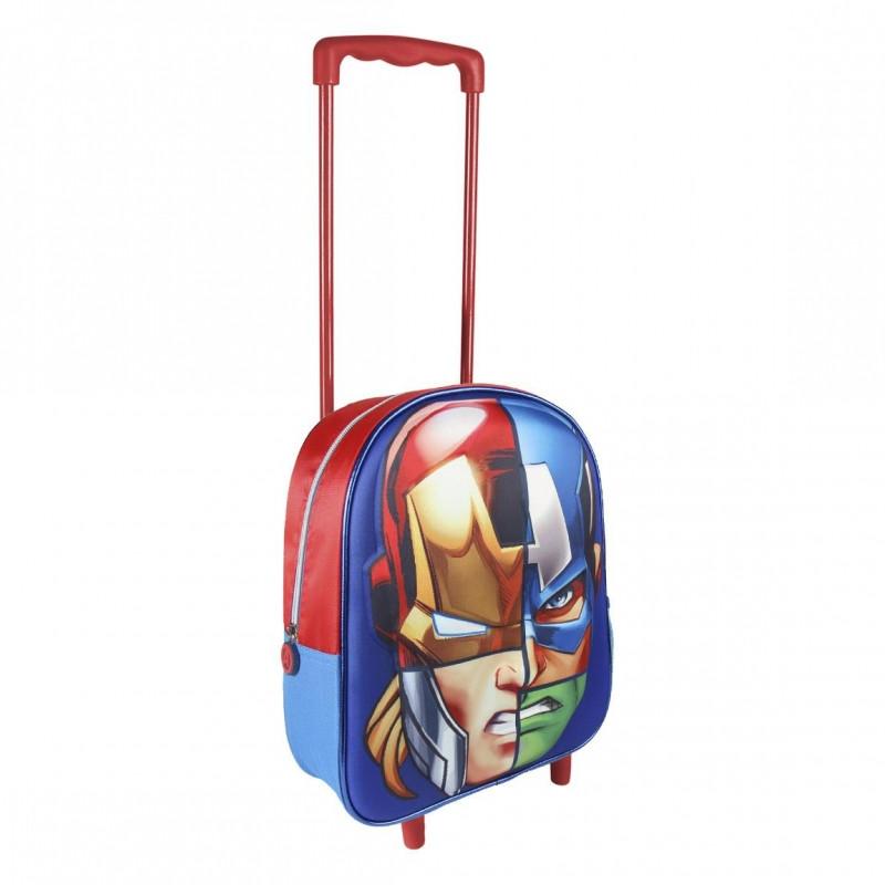 Chlapecký 3D batoh na kolečkách s hrdiny Avengers / Iron Man Kapitán Amerika Thor Hulk 25 x 31 x 10 cm