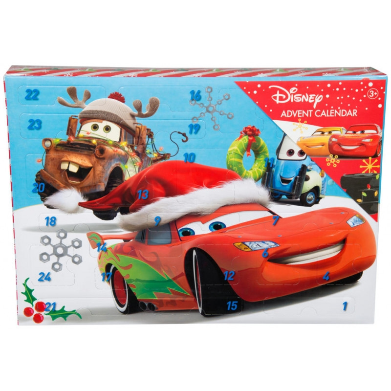 Adventní kalendář Cars / voskovky, nálepky, razítka / 5 x 27 x 38 cm