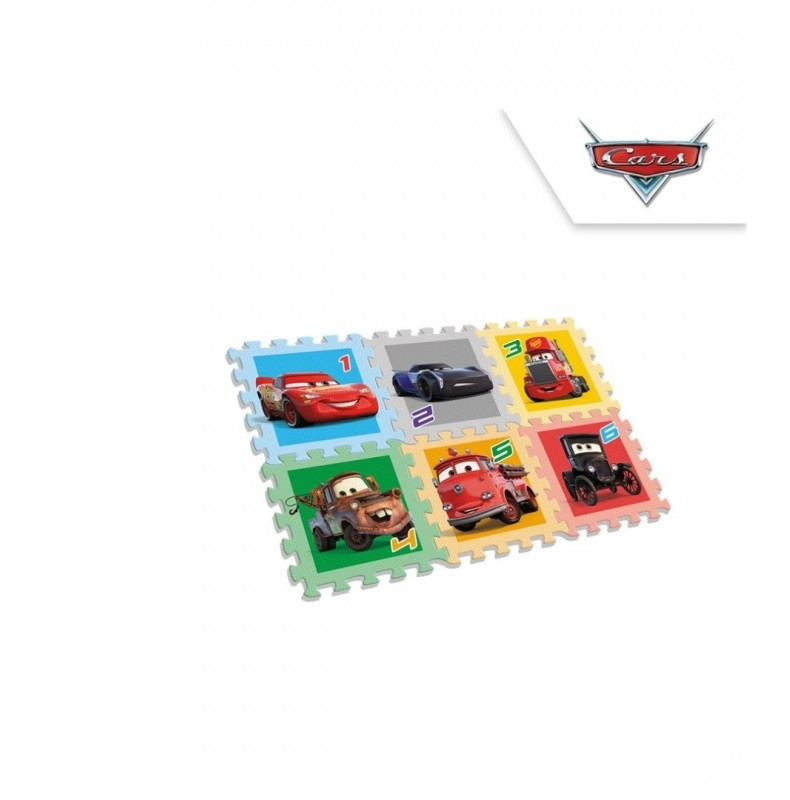 Pěnové puzzle Cars /  6 kusů / 90 x 90 cm