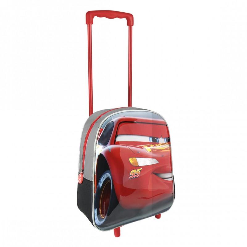 Chlapecký batoh na kolečkách Cars 3D / 25 x 31 x 10 cm