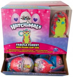 Plastové vajíčko s karabinkou a plyšovou figurkou Hatchimals 8 x 6 cm / vecizfilmu