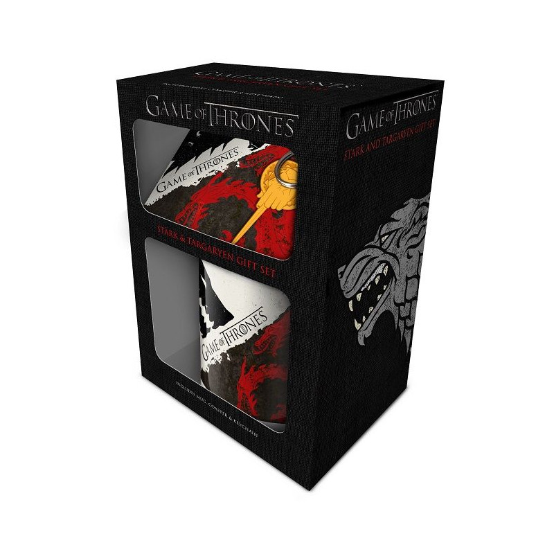 ec05e1b0a Keramická dárková sada Hra o trůny / Game Of Thrones / Stark & Targaryen  hrnek podtácek