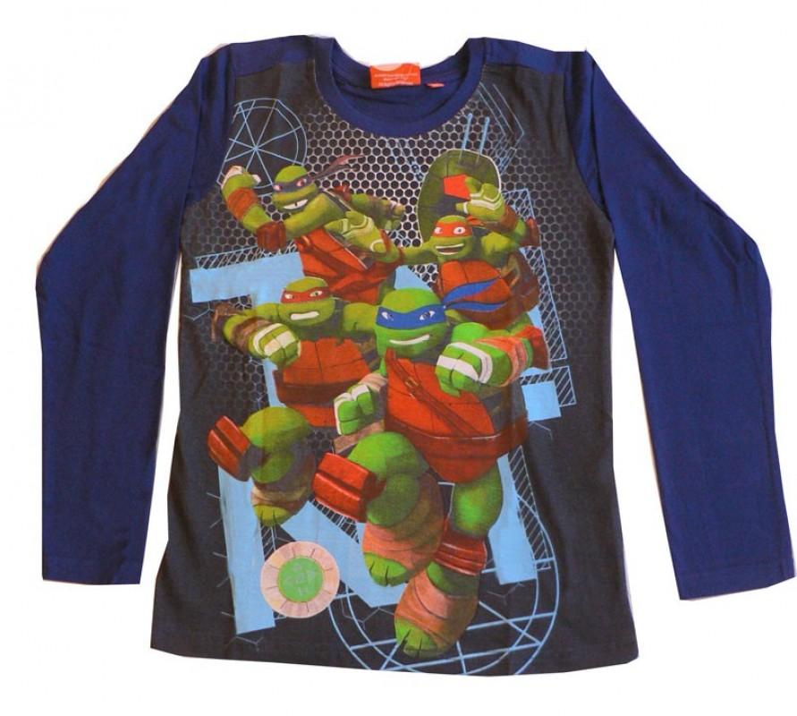 Chlapecké Tričko S Dlouhým Rukávem Želvy Ninja Modré
