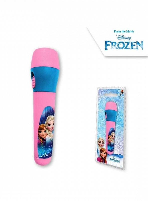 Dívčí plastová LED baterka Ledové Království / Frozen Anna a Elsa