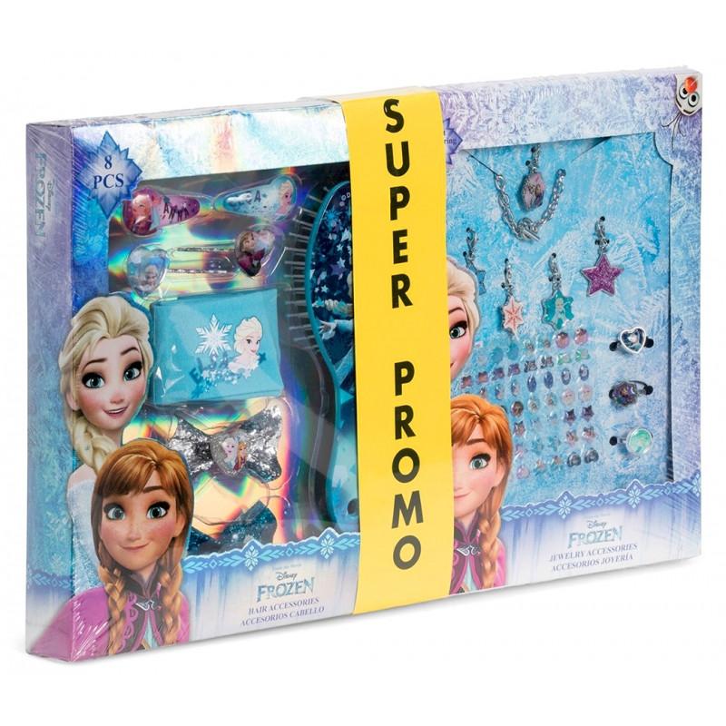 Velká dívčí sada vlasových doplňků a bižuterie Frozen / Ledové Království Anna a Elsa