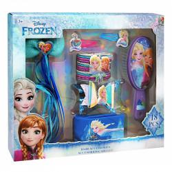 Sada 18 ks vlasových doplňků Frozen / Ledové království Elsa a Anna