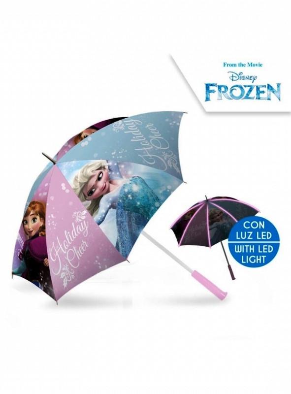 Dívčí manuální deštník s LED světlem Frozen / Ledové Království / Anna a Elsa