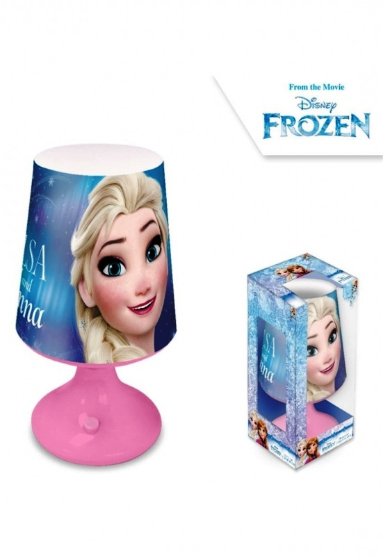 Dívčí stolní lampička Elsa / Frozen / Ledové Království 9 x 18 cm