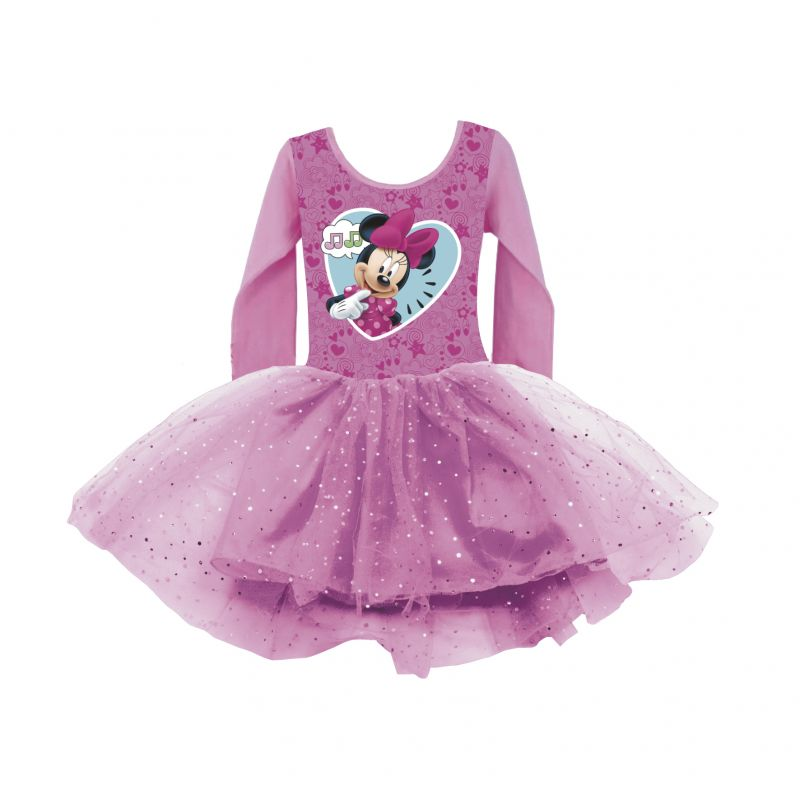 Dívčí šaty s dlouhým rukávem Myška Minnie / Minnie Mouse Srdce 2 - 6 let