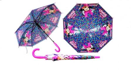 Dívčí automatický deštník Myška Minnie / Minnie Mouse Modrý / vecizfilmu
