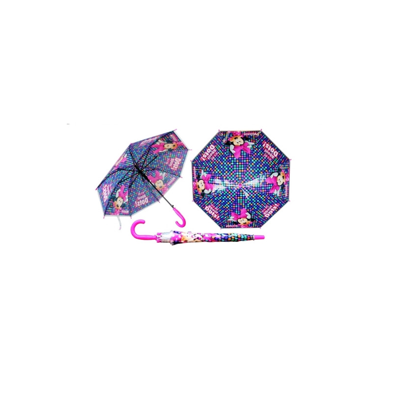 Dívčí automatický deštník Myška Minnie / Minnie Mouse Modrý